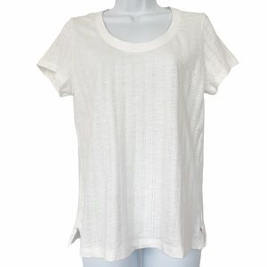 Sanctuary Pointelle Short Sleeve Crewneck T-Shirt